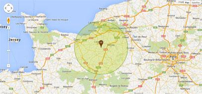 Localisation Entreprise Paysagisme 14