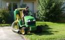 Tracteur tonteuse en tonte