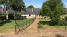 pose de la clôture simple torsion vert
