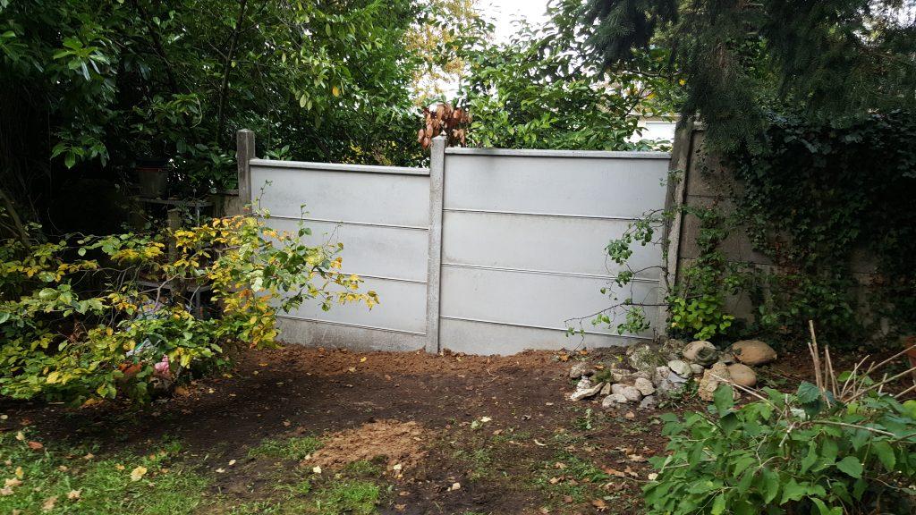 réparation de clôture béton
