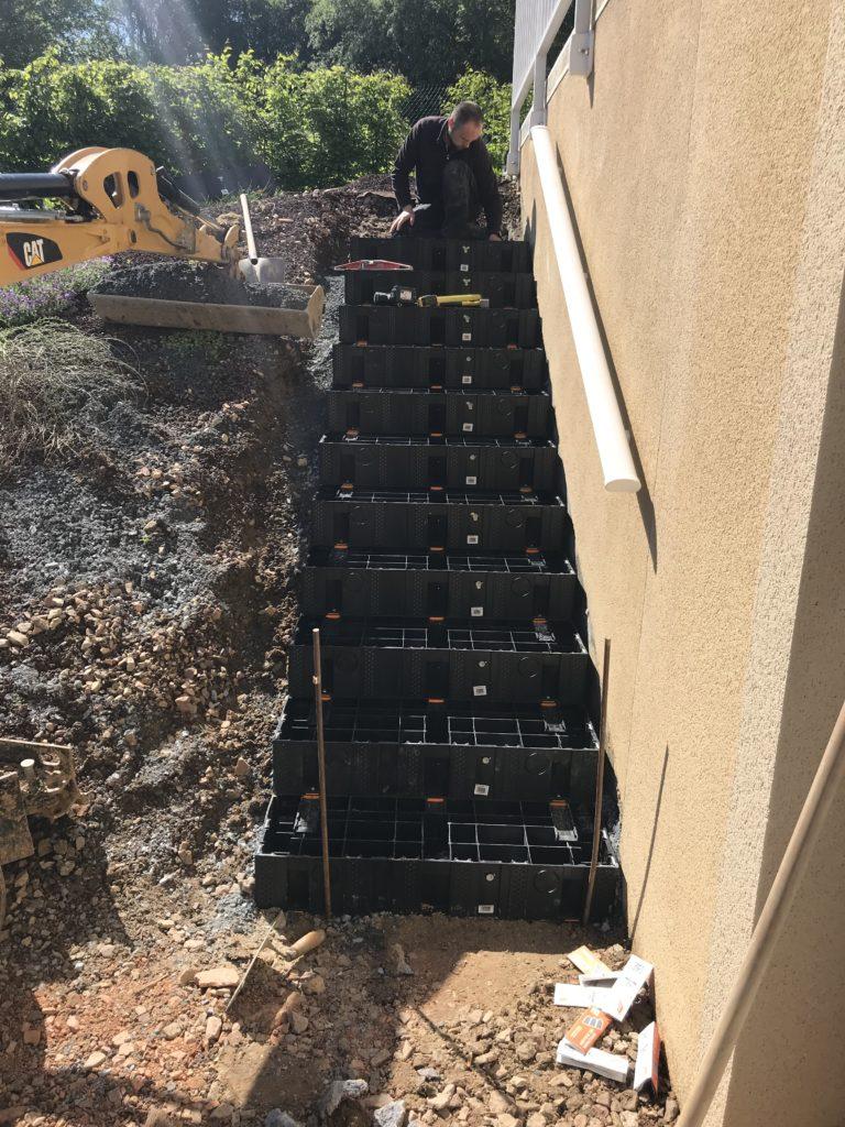 installation des modules escaliers