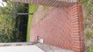 Terrasse en brique ancienne pose en chevron