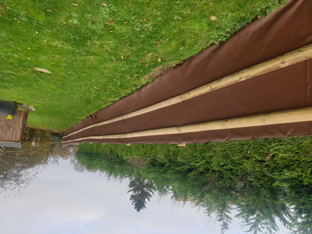 Clôture bois avec occultant