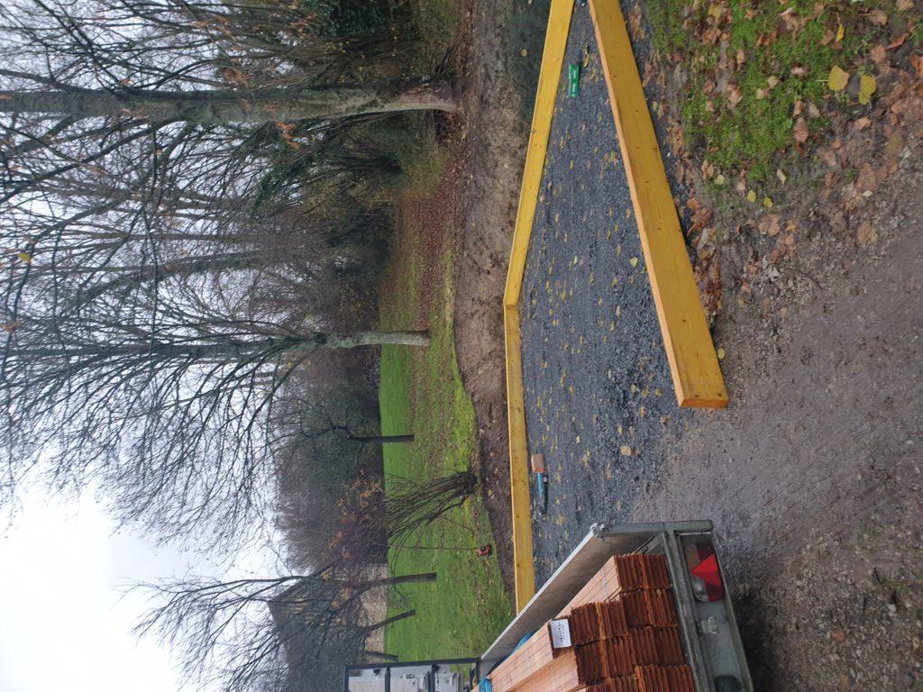 terrassement et mise en place d'un carport